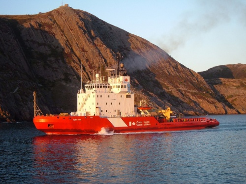 Canadian coast guard cutter