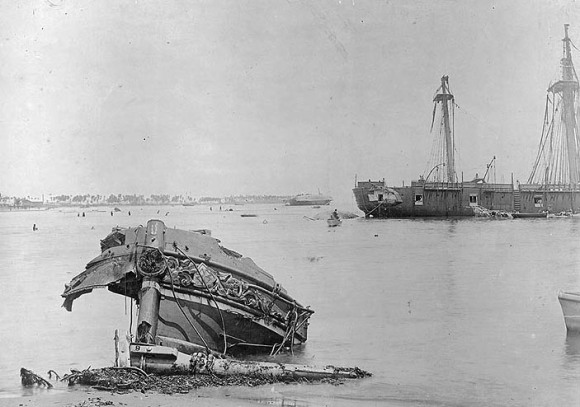wrecked german ships